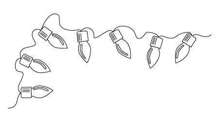 Christmas Ornament Line Drawing.