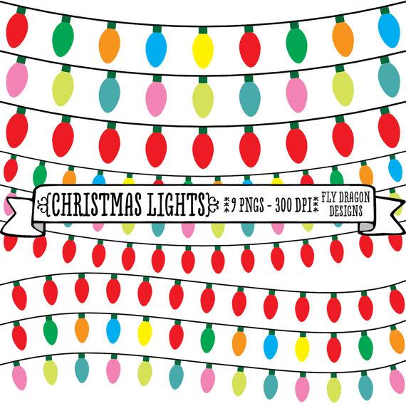 Christmas Light Border Clip Art.