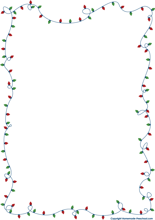 Fun and free Christmas lights clipart, ready for PERSONAL.