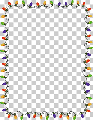 Border String Of Christmas Lights Clipart.