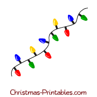 Printable Christmas Lights Clip Art.