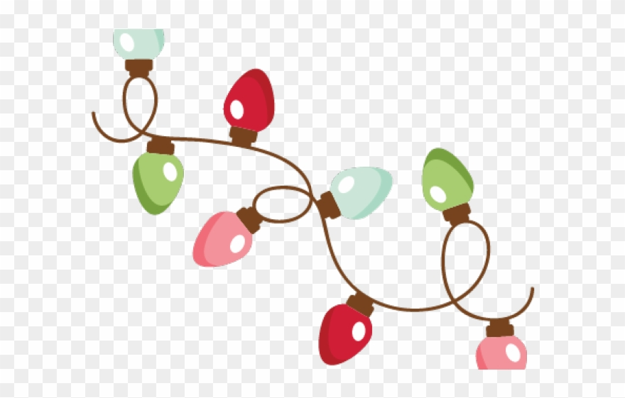 Christmas Lights Clipart Stock.