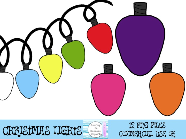 Christmas Lights Clipart Long.