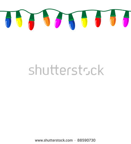 String Of Christmas Lights Stock Photos, Royalty.
