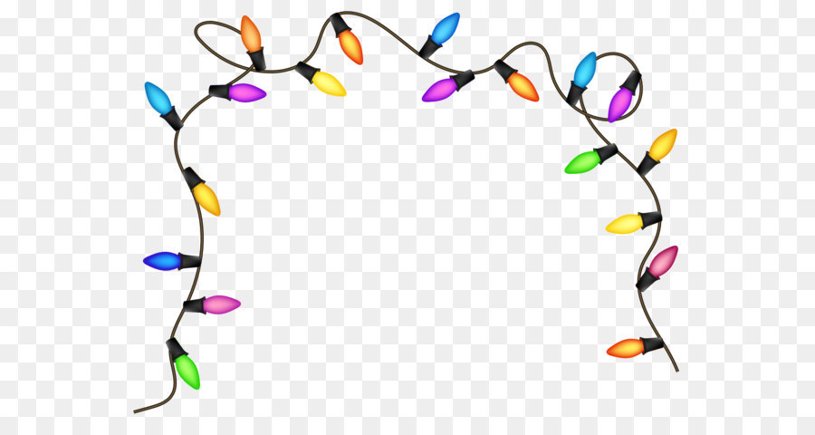 Christmas Lights Circle png download.