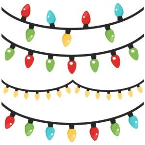 Christmas lights clipart transparent background christmas tree.
