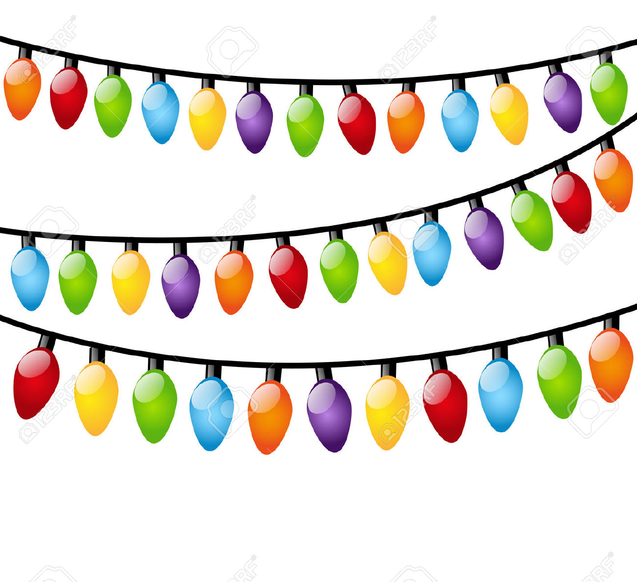 Christmas lights clipart transparent free.