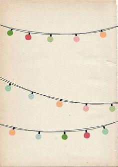 String lights clip art: