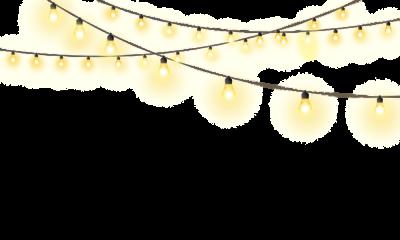Christmas lights PNG.