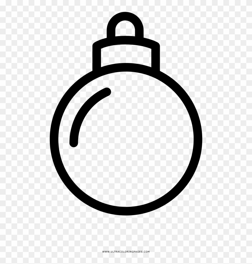 Christmas Ornament Coloring Page.