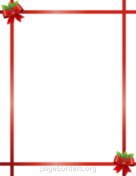 Christmas Border Clipart Borders Holiday Graphics Illustrations Free.