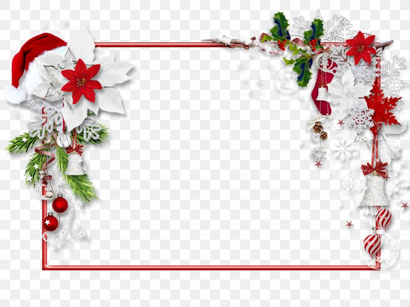 Santa Claus Picture Frames Christmas Day Clip Art, PNG.