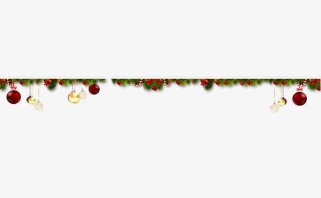 Christmas Elements Line Border, Line Clipart, Christmas, Line Png.
