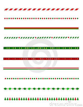 Christmas clip art line.