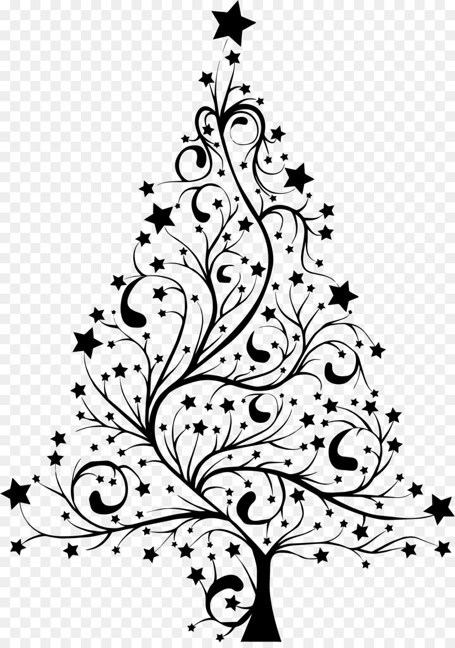 Christmas Tree Line Drawing clipart.