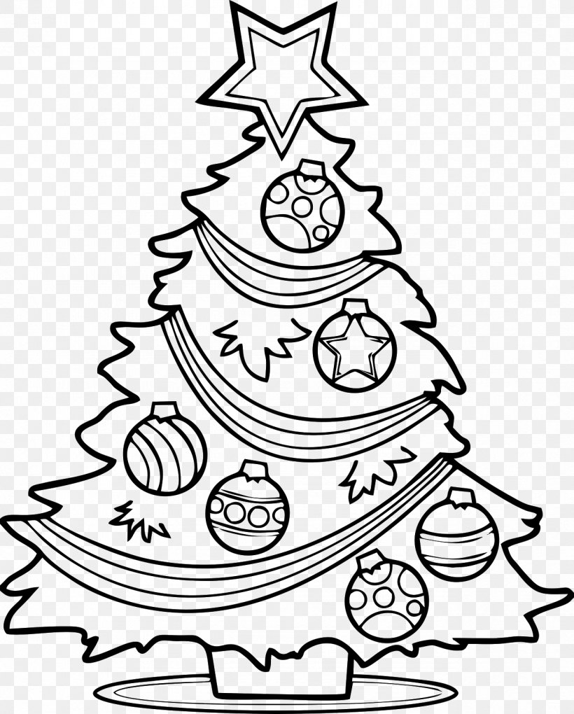 Christmas Tree Santa Claus Drawing Clip Art, PNG.
