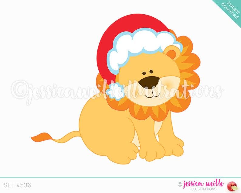Instant Download Christmas Lion Clip Art, Cute Digital Clipart, Christmas  Clip art, Cute Christmas Lion Illustration, #536.