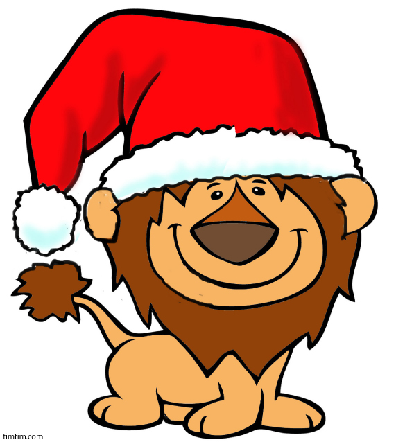 Free drawing of Christmas Lion from the category.