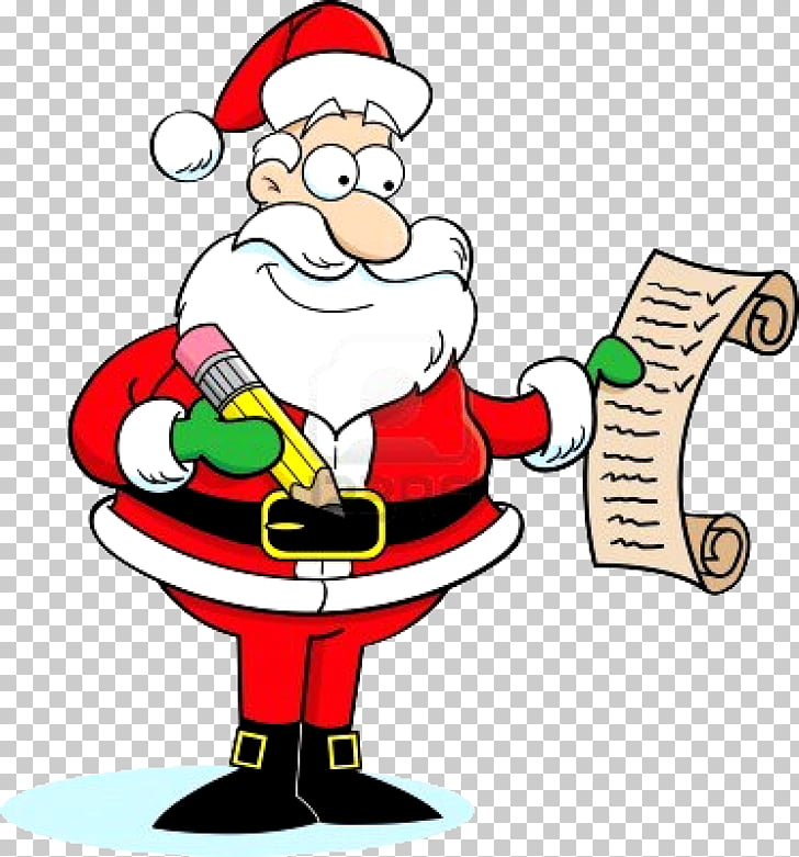 Santa Claus Wish list , Santa PNG clipart.