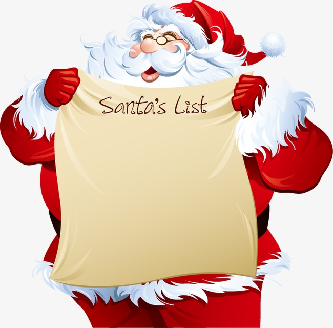 Download Free png Hand painted Pattern White Beard Santa Claus Gift.