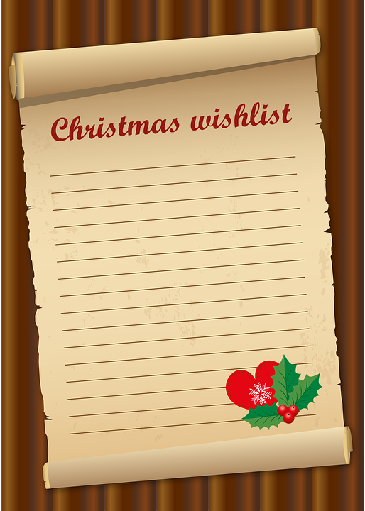 Wish List Christmas Give.
