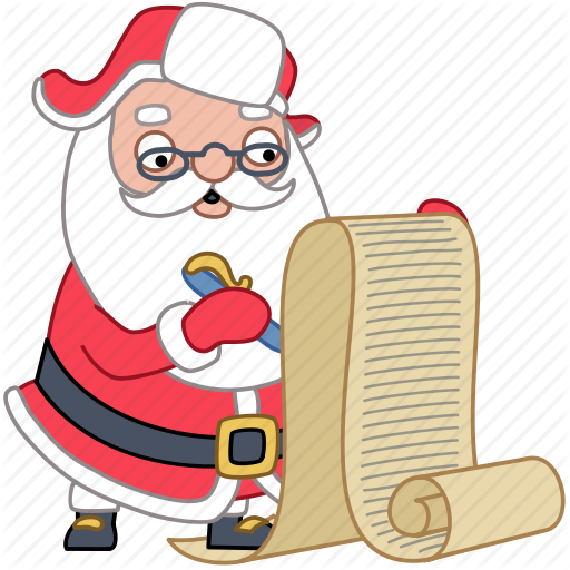 Download Free png Check, christmas, document, holiday, list, santa.