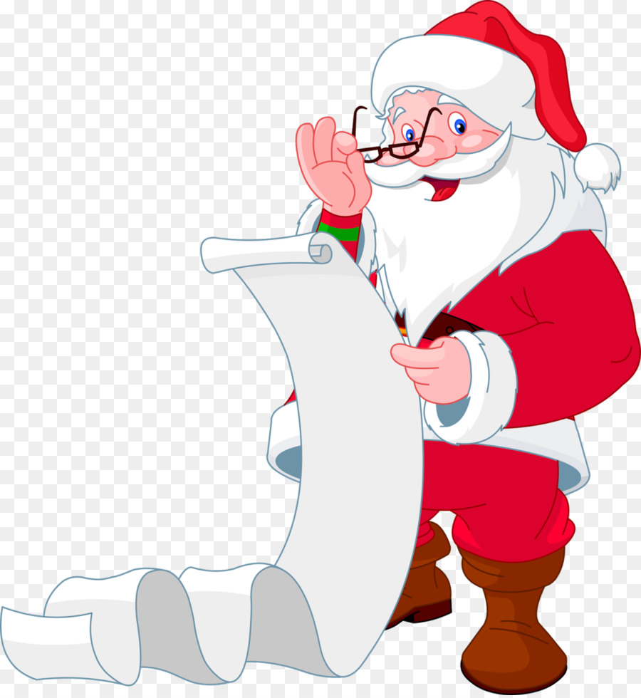 Santa With List Png & Free Santa With List.png Transparent Images.