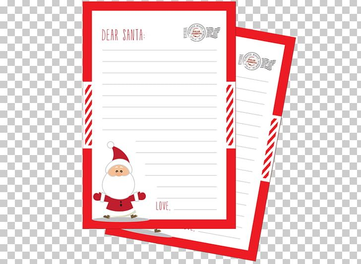 Santa Claus Paper Christmas Wish List Letter PNG, Clipart, Area.