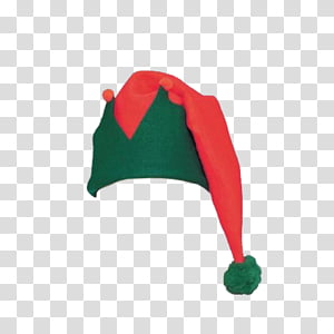 THIRD CHRISTMAS, red and green Christmas hat transparent.