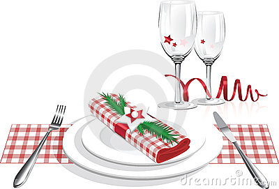 Free Christmas Lunch Clipart.