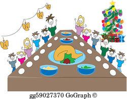 Christmas Meal Clip Art.