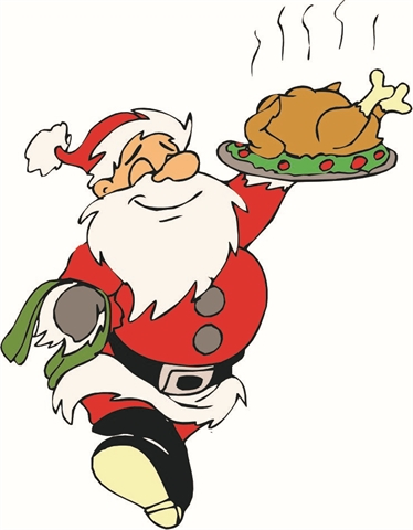 Christmas Luncheon Clipart.