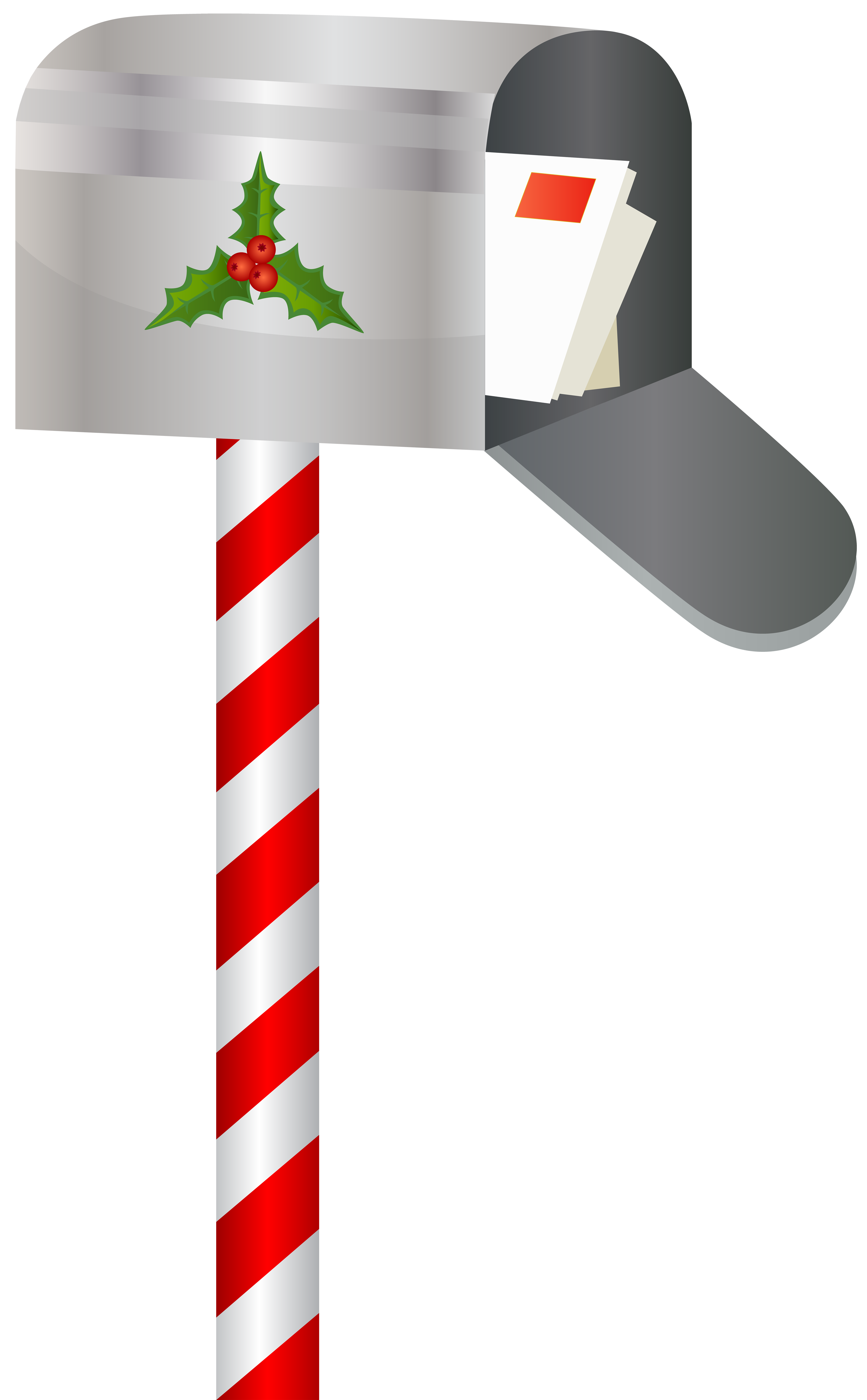 Christmas Mailbox PNG Clip Art Image.