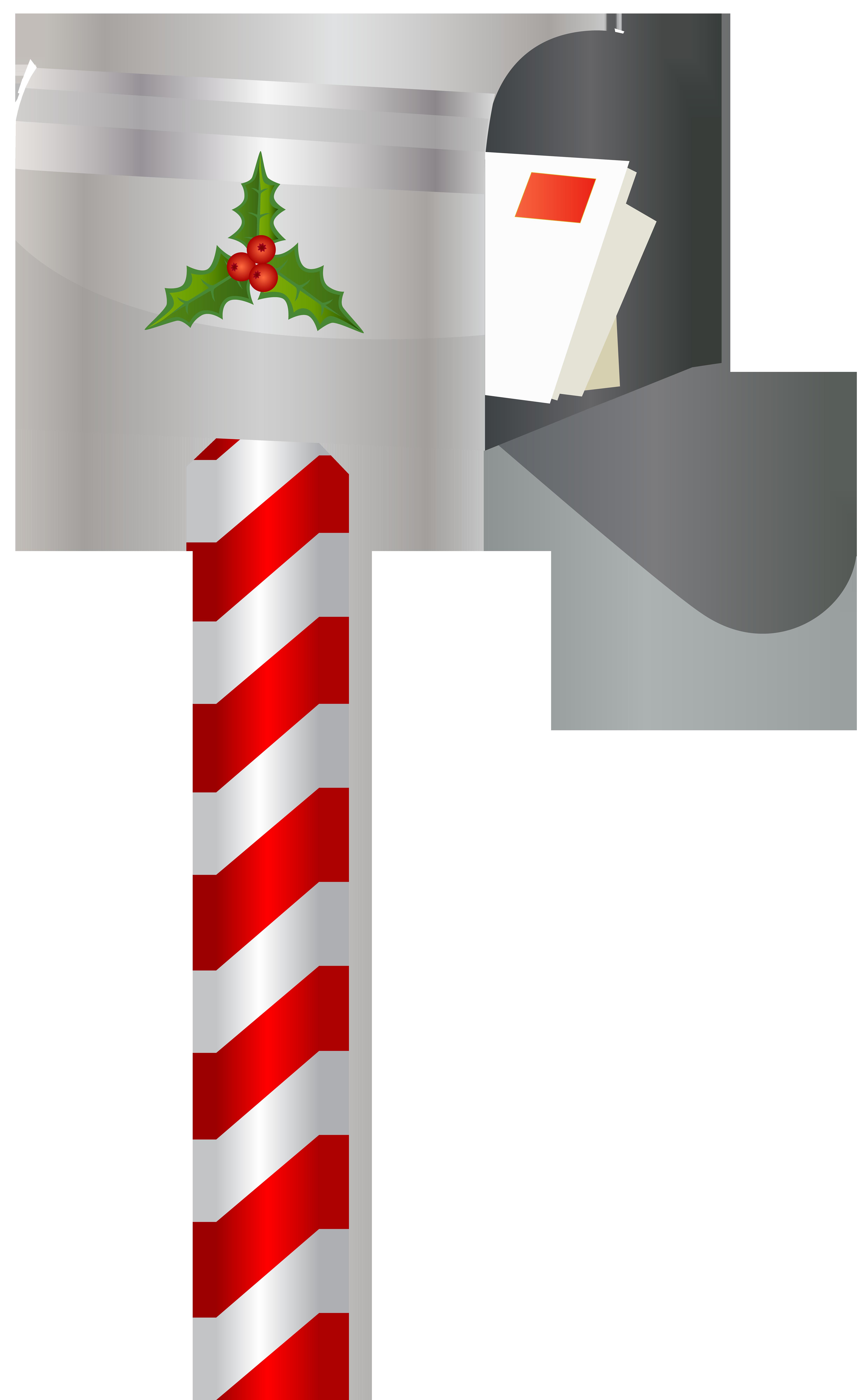 Christmas Mailbox PNG Clip Art Image.