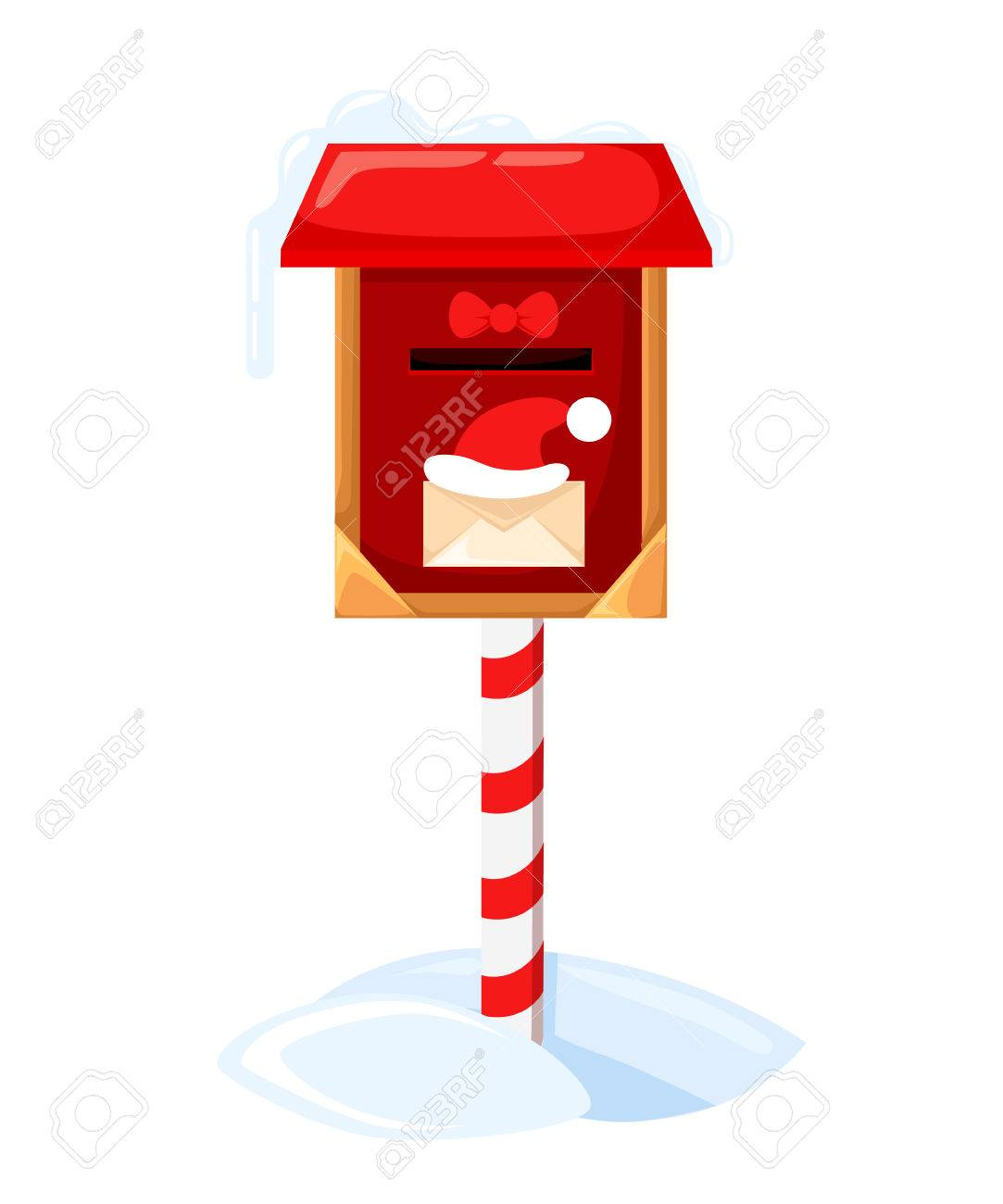 Santa s mailbox Vector illustration of a letter for Santa Claus...