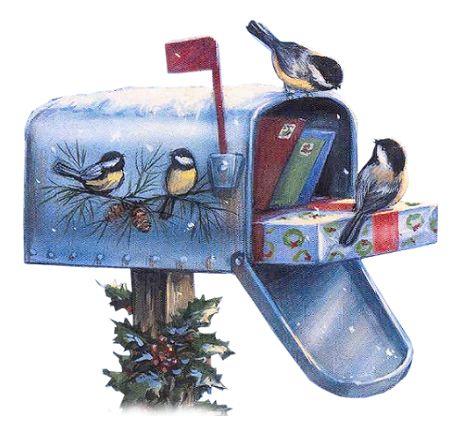 Festive Mailbox Cliparts.