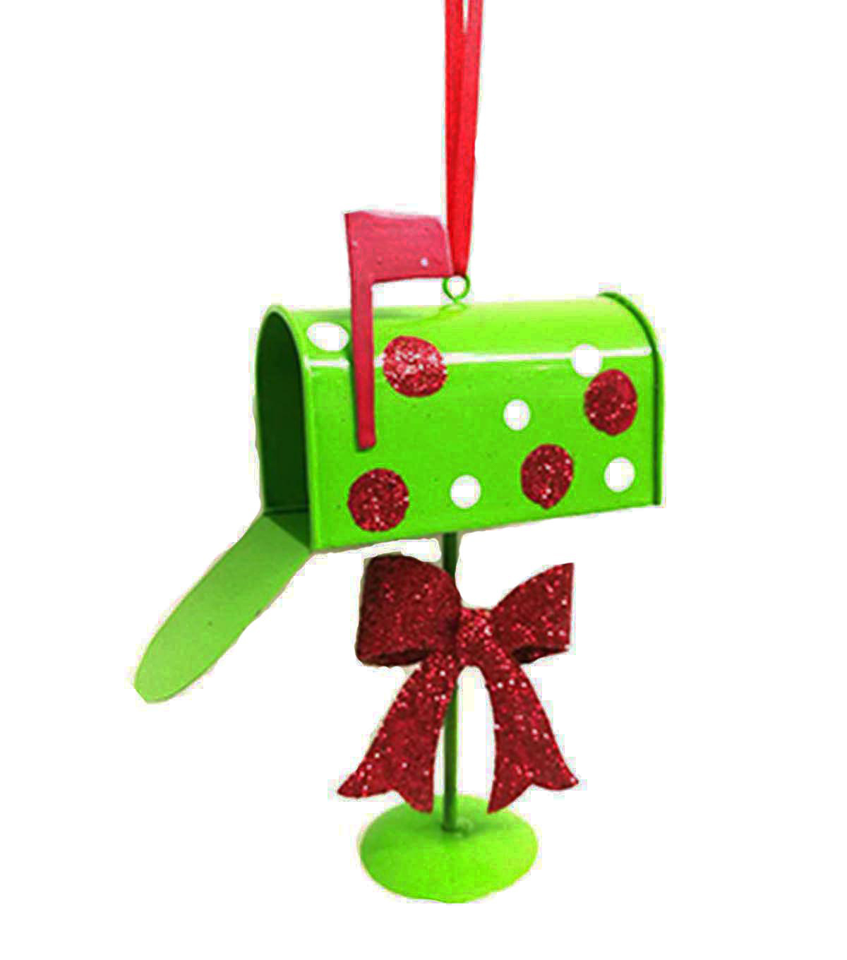 Maker's Holiday Christmas Whimsy Workshop Mailbox Ornament.