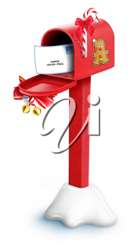 Royalty Free Clipart Image of a Christmas Mailbox #570985.