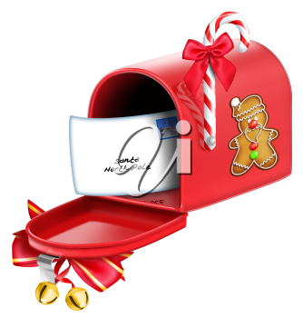 Royalty Free Clipart Image of a Christmas Mailbox #570984.