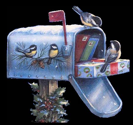 CHRISTMAS MAILBOX CLIP ART.