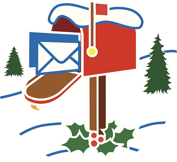 Best Christmas Mailbox Illustrations, Royalty.