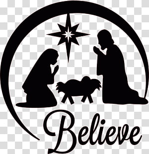 Nativity illustration, Holy Family Christmas Nativity of Jesus.