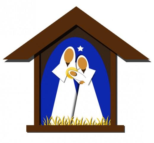 Free christmas nativity scene clipart.