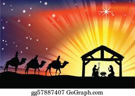 Nativity Scene Clip Art.
