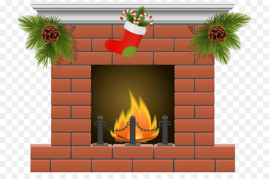 Fireplace Christmas png download.