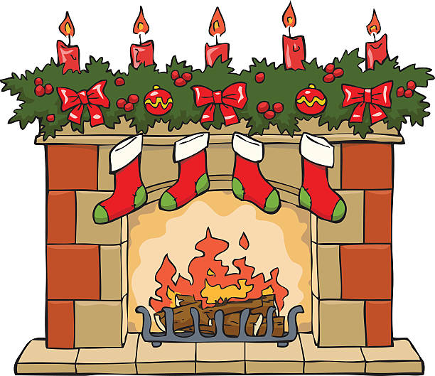 Best Fireplace Mantel Illustrations, Royalty.