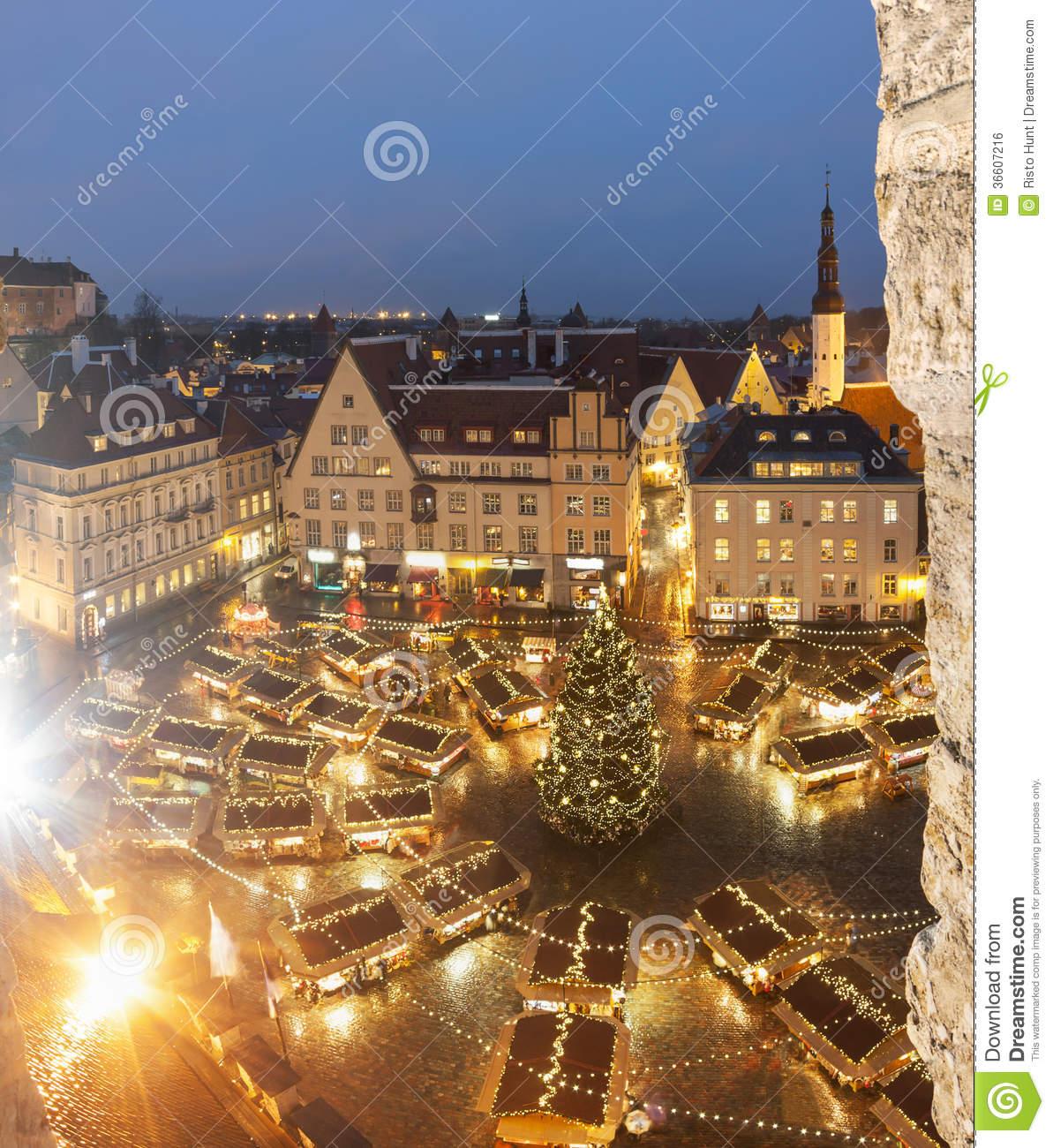 Christmas Market In Tallinn, Estonia Royalty Free Stock Image.