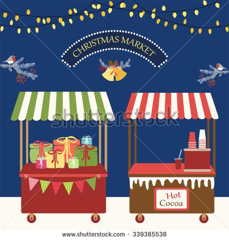 Christmas Market Stall Stock Photos, Royalty.
