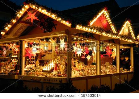 Christmas market at the illumination clipart #5