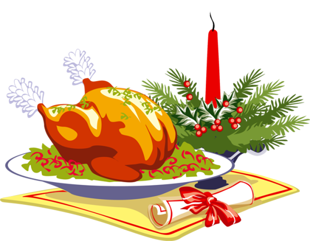 Christmas Lunch Clipart.